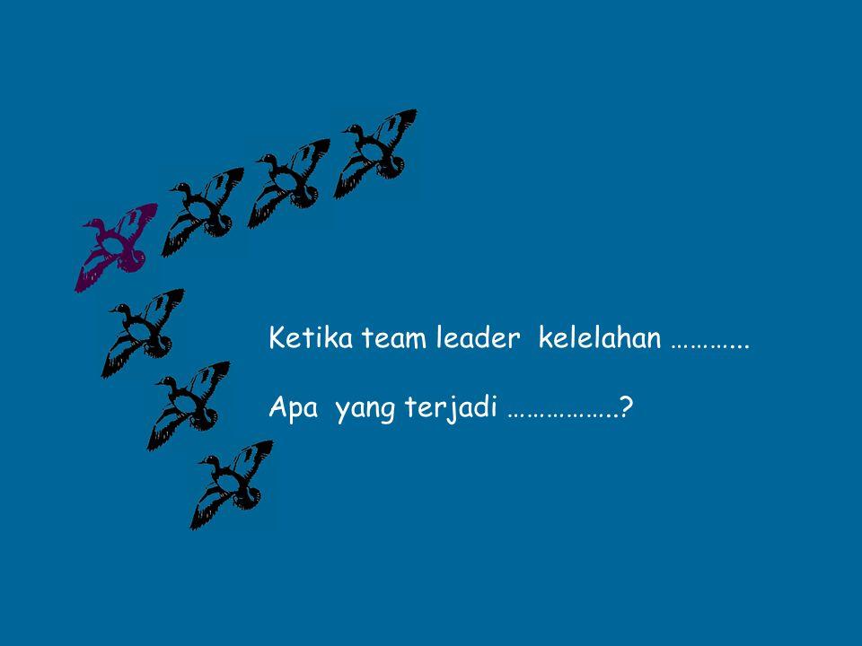 Ketika team leader kelelahan ………...