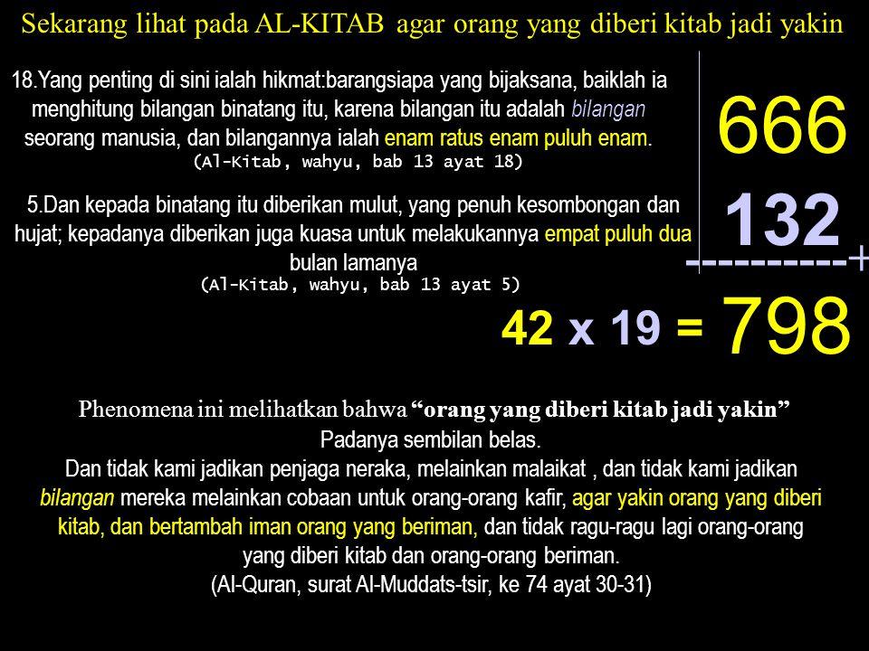 Sekarang lihat pada AL-KITAB agar orang yang diberi kitab jadi yakin