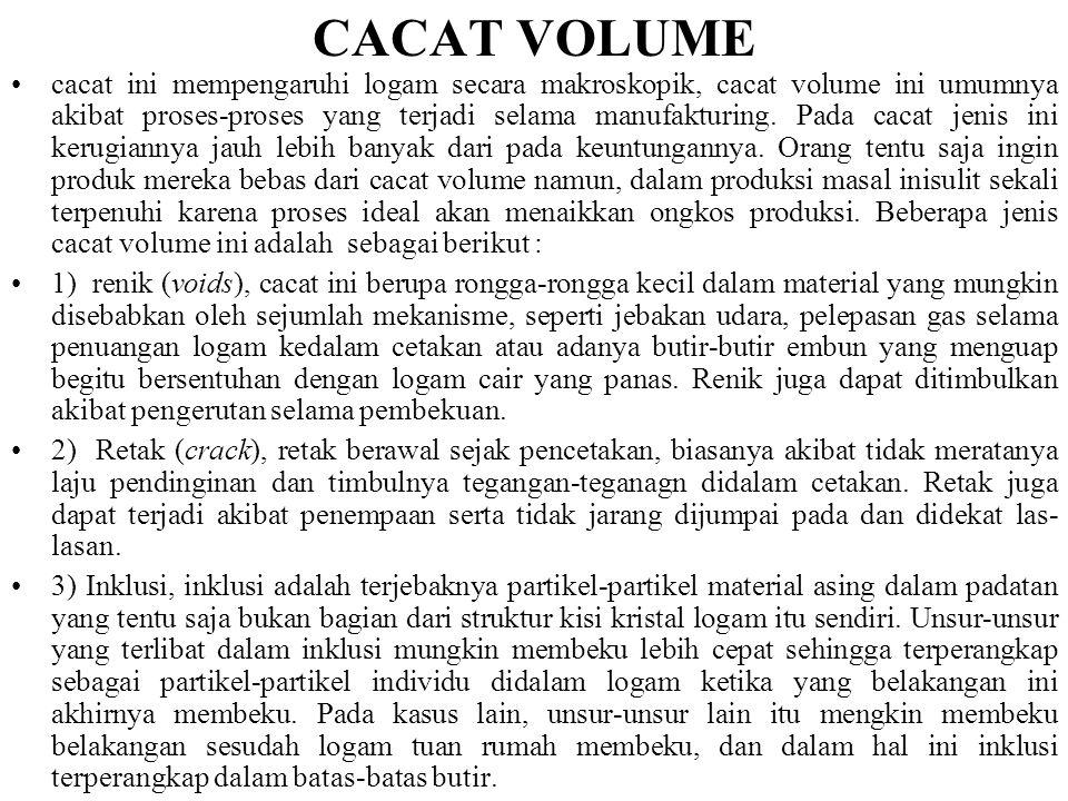 CACAT VOLUME