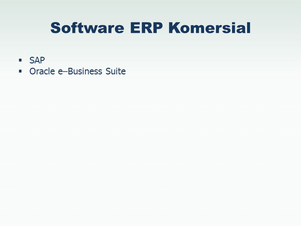 Software ERP Komersial