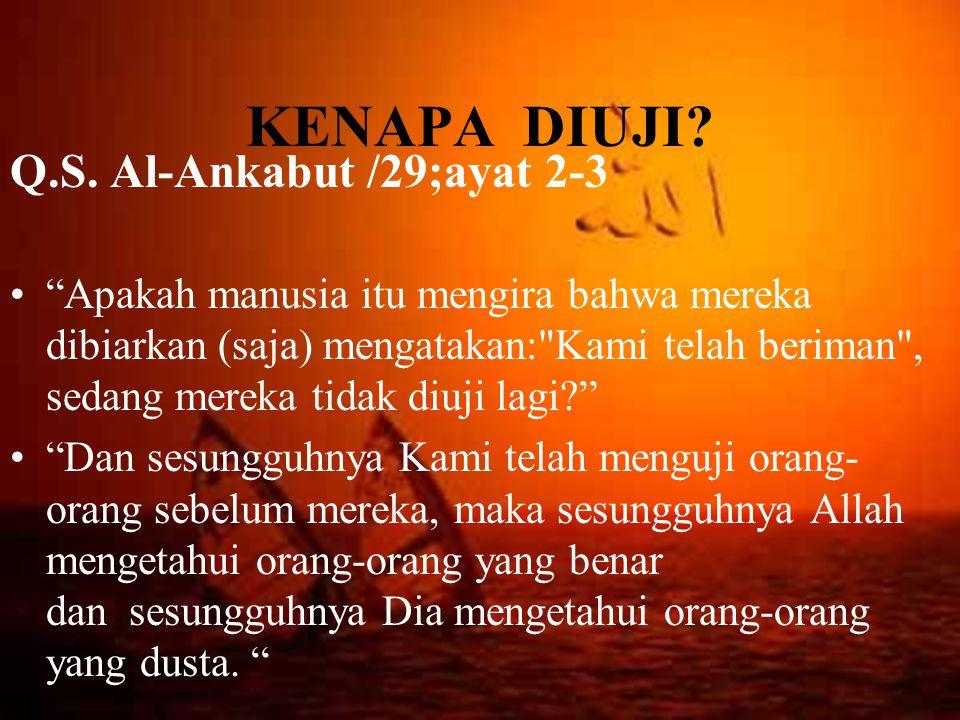 KENAPA DIUJI Q.S. Al-Ankabut /29;ayat 2-3