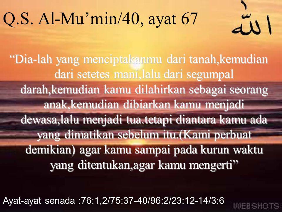 Q.S. Al-Mu'min/40, ayat 67