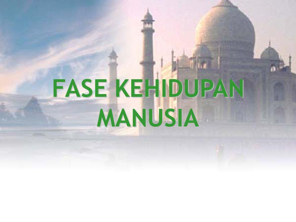 FASE KEHIDUPAN MANUSIA