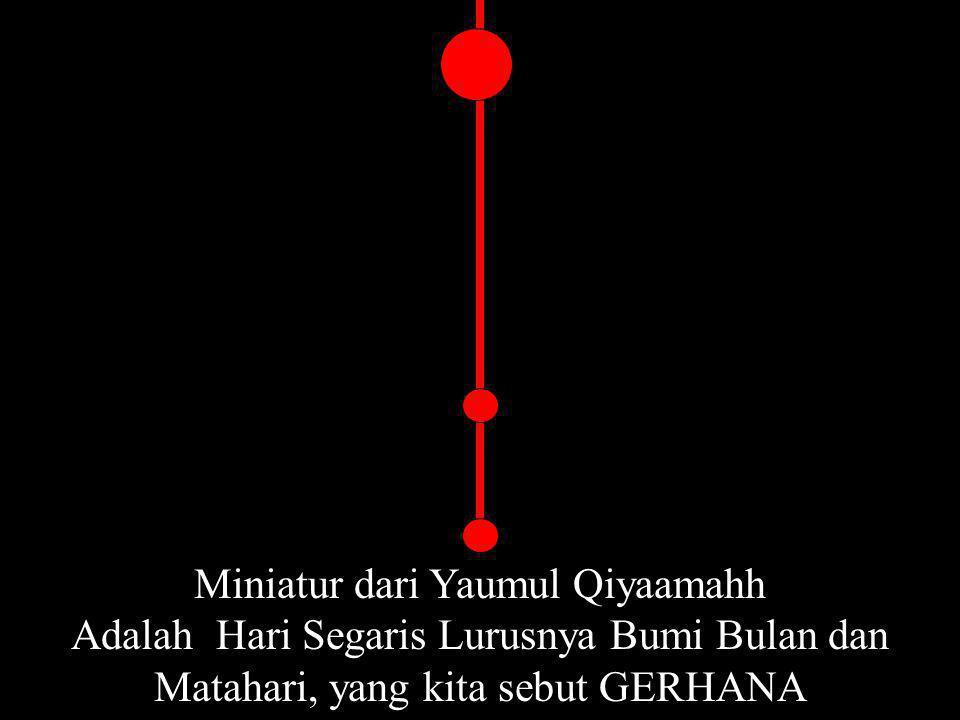 Miniatur dari Yaumul Qiyaamahh