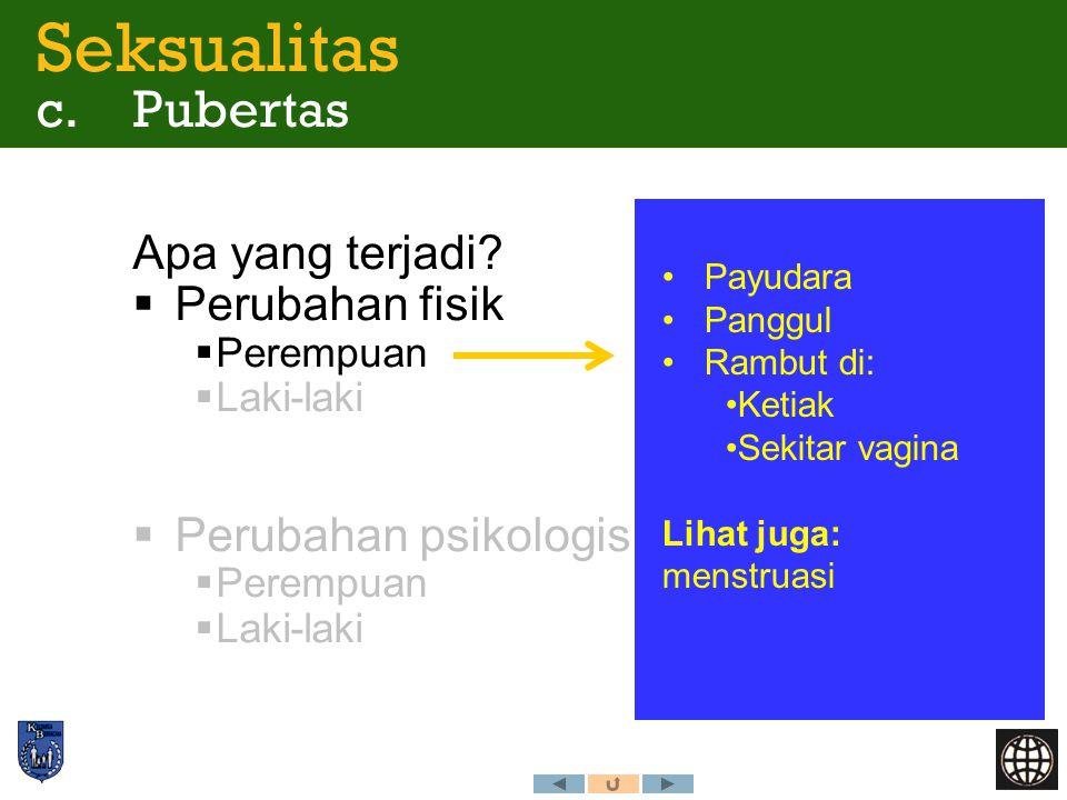 Seksualitas c. Pubertas