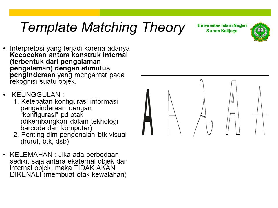 Template Matching Theory