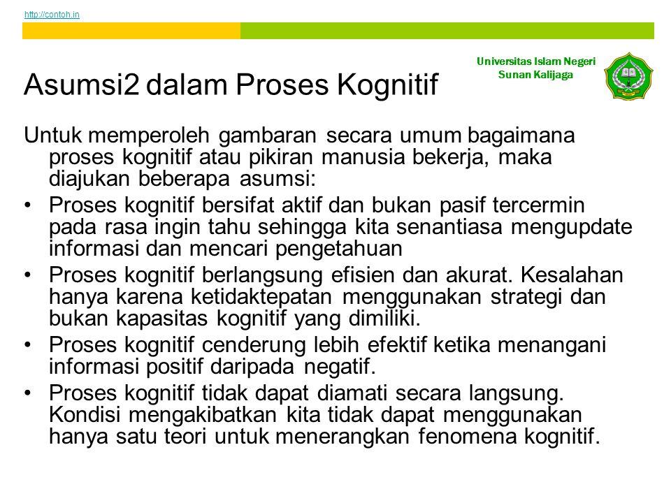 Asumsi2 dalam Proses Kognitif