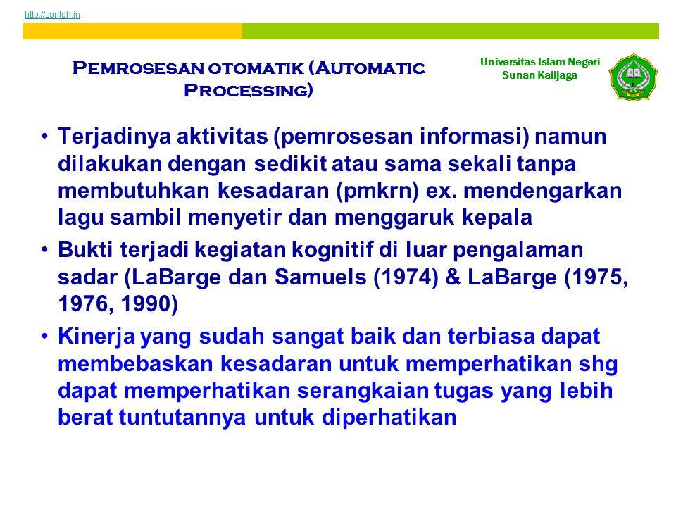 Pemrosesan otomatik (Automatic Processing)