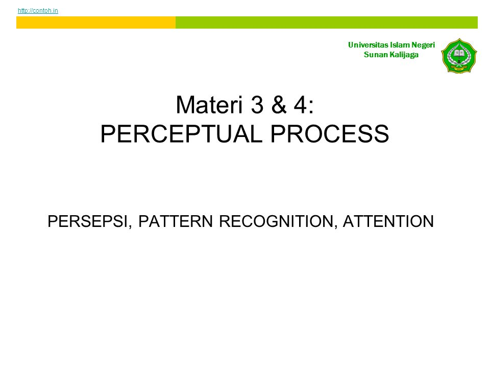 Materi 3 & 4: PERCEPTUAL PROCESS
