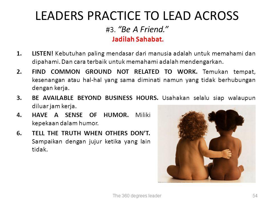 LEADERS PRACTICE TO LEAD ACROSS #3. Be A Friend. Jadilah Sahabat.