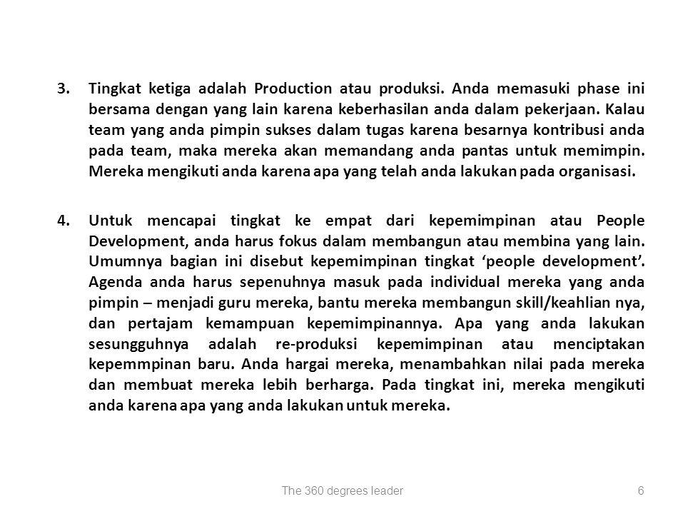 3. Tingkat ketiga adalah Production atau produksi