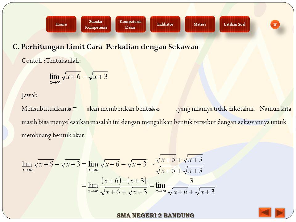 C. Perhitungan Limit Cara Perkalian dengan Sekawan