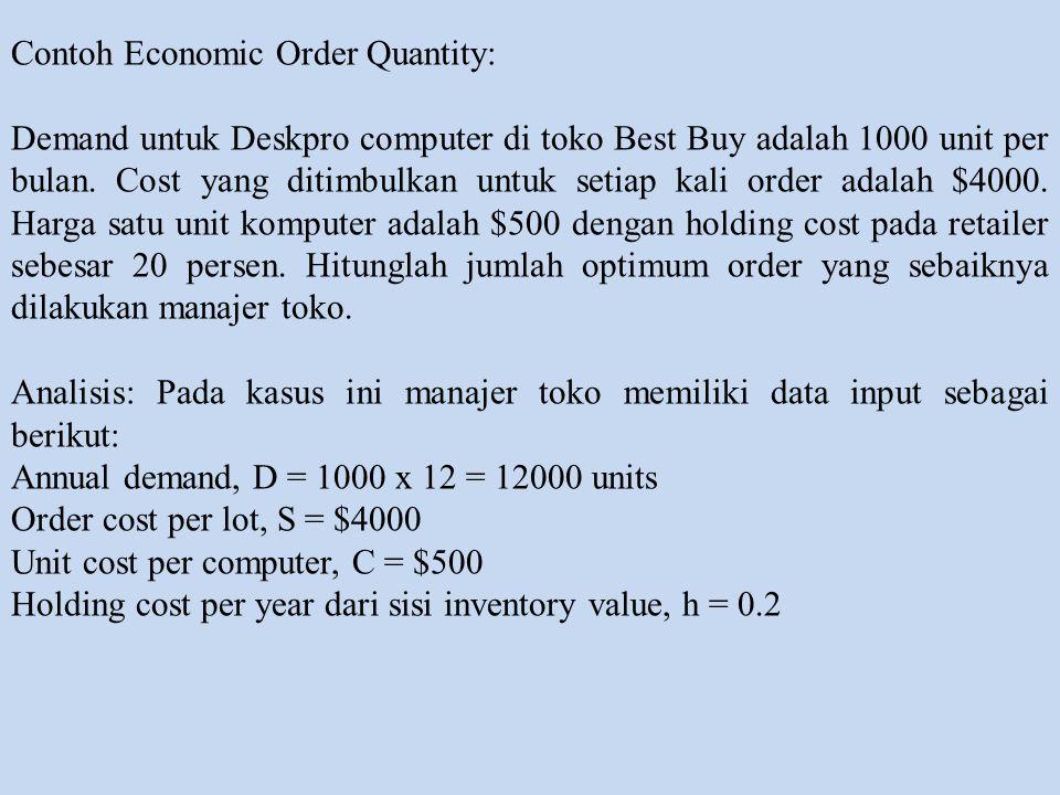 Contoh Economic Order Quantity: