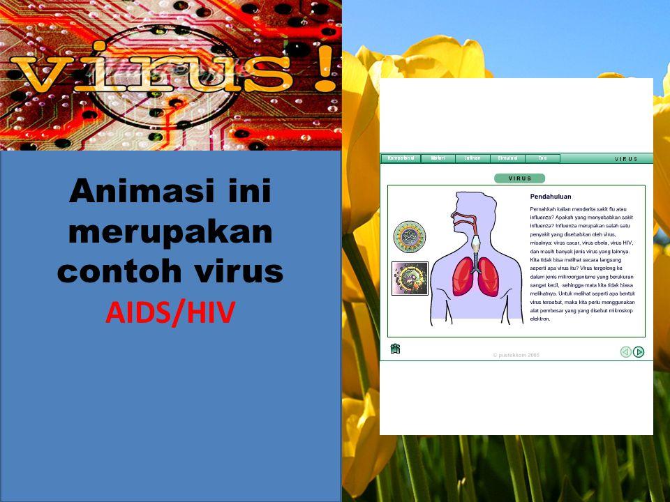 Animasi ini merupakan contoh virus AIDS/HIV