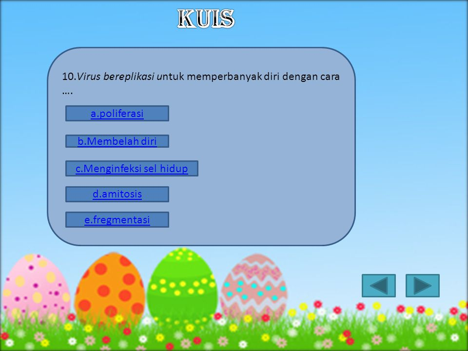 c.Menginfeksi sel hidup