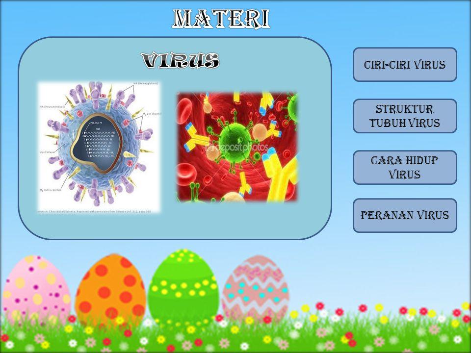 MATERI VIRUS CIRI-CIRI VIRUS STRUKTUR TUBUH VIRUS CARA HIDUP VIRUS