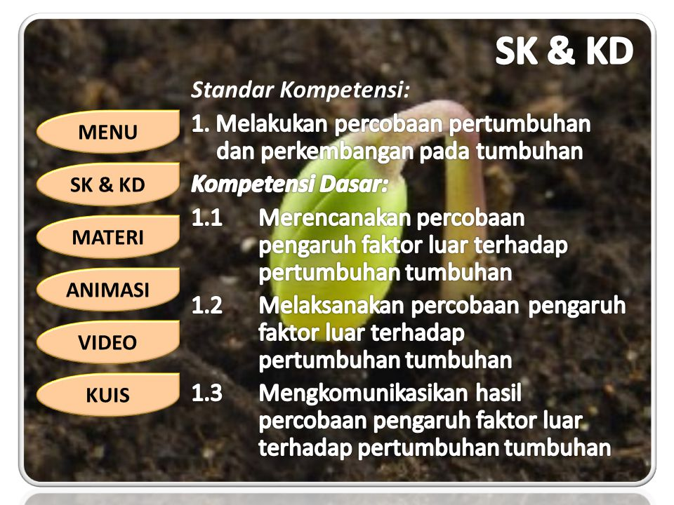 SK & KD Standar Kompetensi: