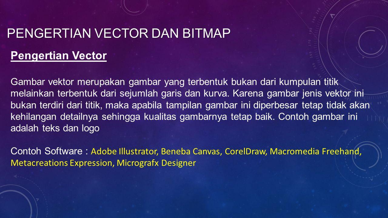 Pengertian Vector dan Bitmap