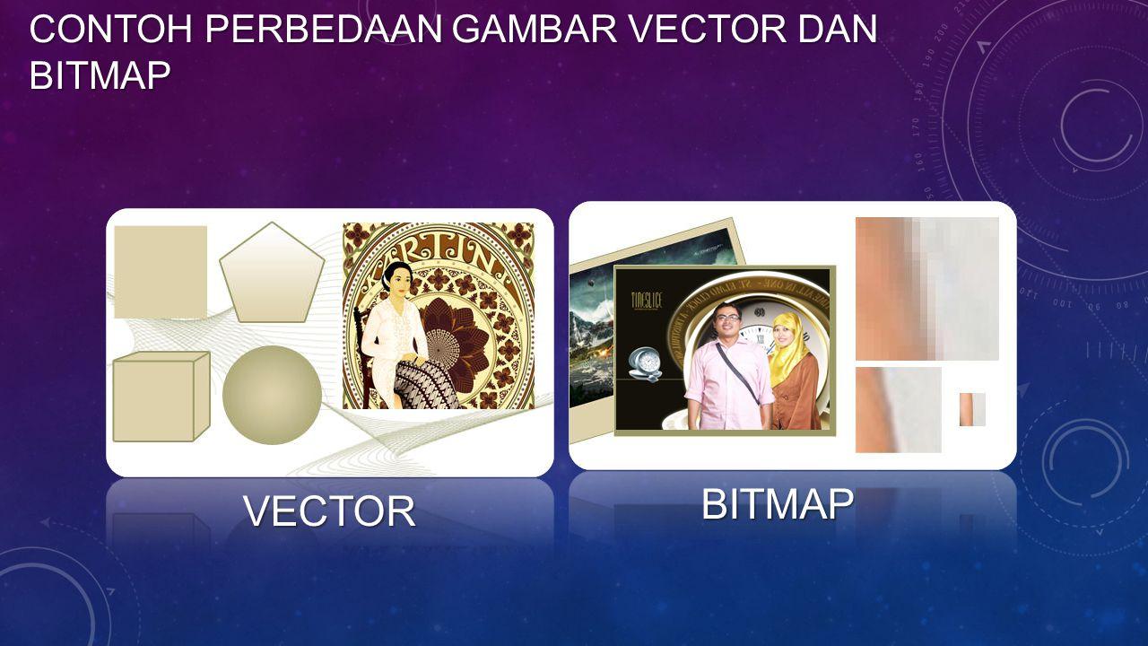 Contoh perbedaan gambar vector dan bitmap