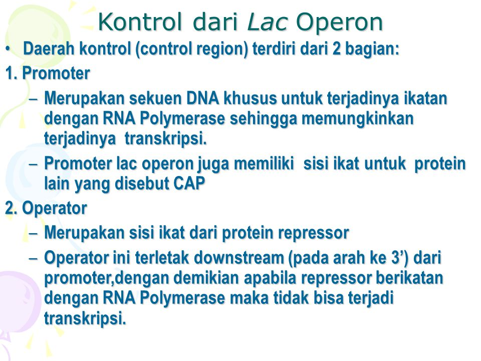 Kontrol dari Lac Operon