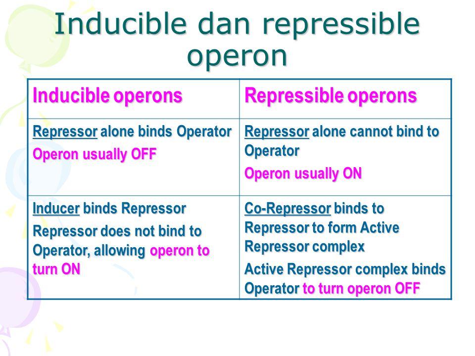 Inducible dan repressible operon