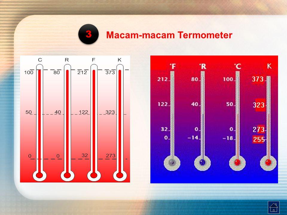 3 Macam-macam Termometer