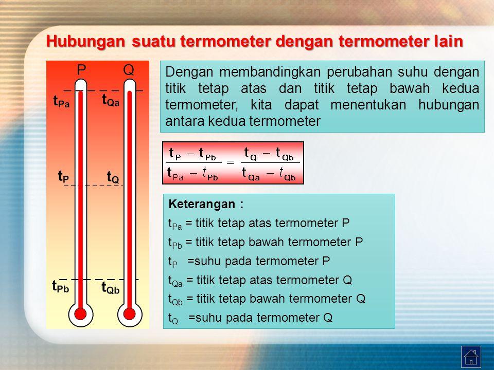 Hubungan suatu termometer dengan termometer lain