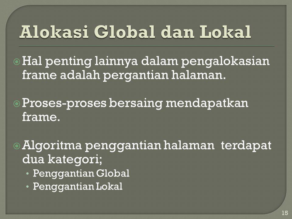 Alokasi Global dan Lokal