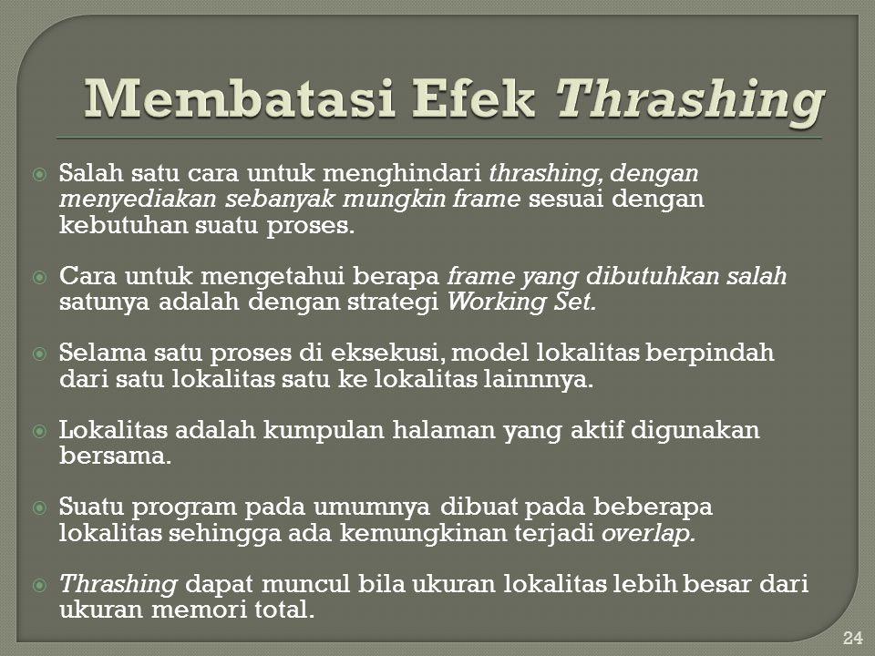 Membatasi Efek Thrashing