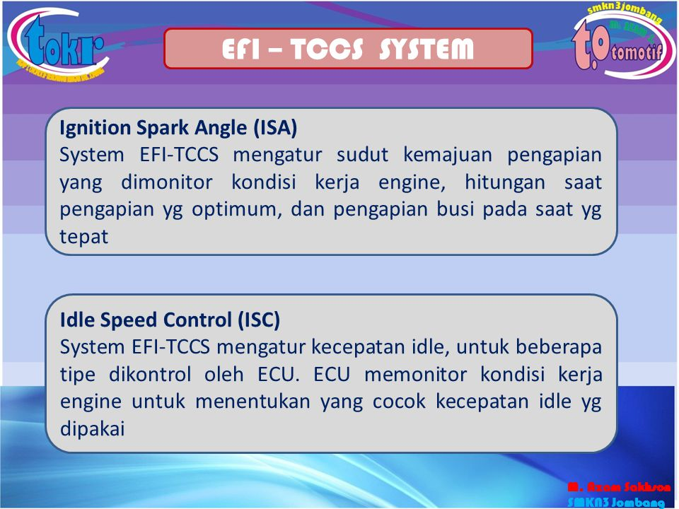 EFI – TCCS SYSTEM Ignition Spark Angle (ISA)