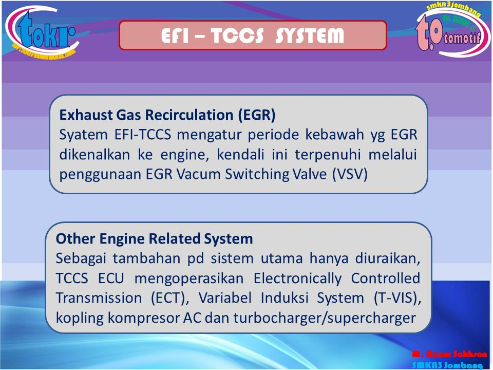 EFI – TCCS SYSTEM Exhaust Gas Recirculation (EGR)