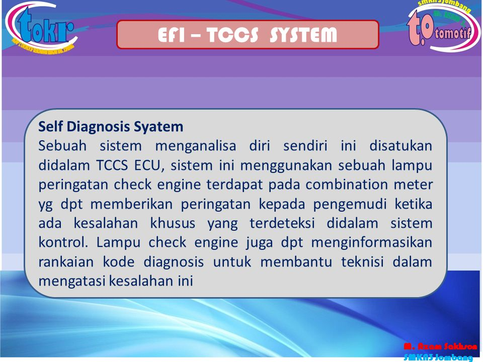 EFI – TCCS SYSTEM Self Diagnosis Syatem