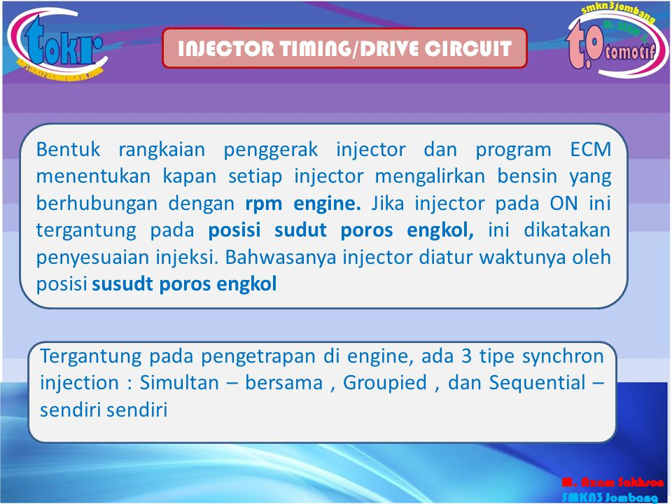 INJECTOR TIMING/DRIVE CIRCUIT