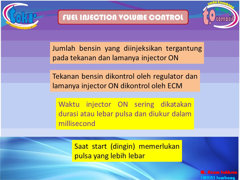 FUEL INJECTION VOLUME CONTROL