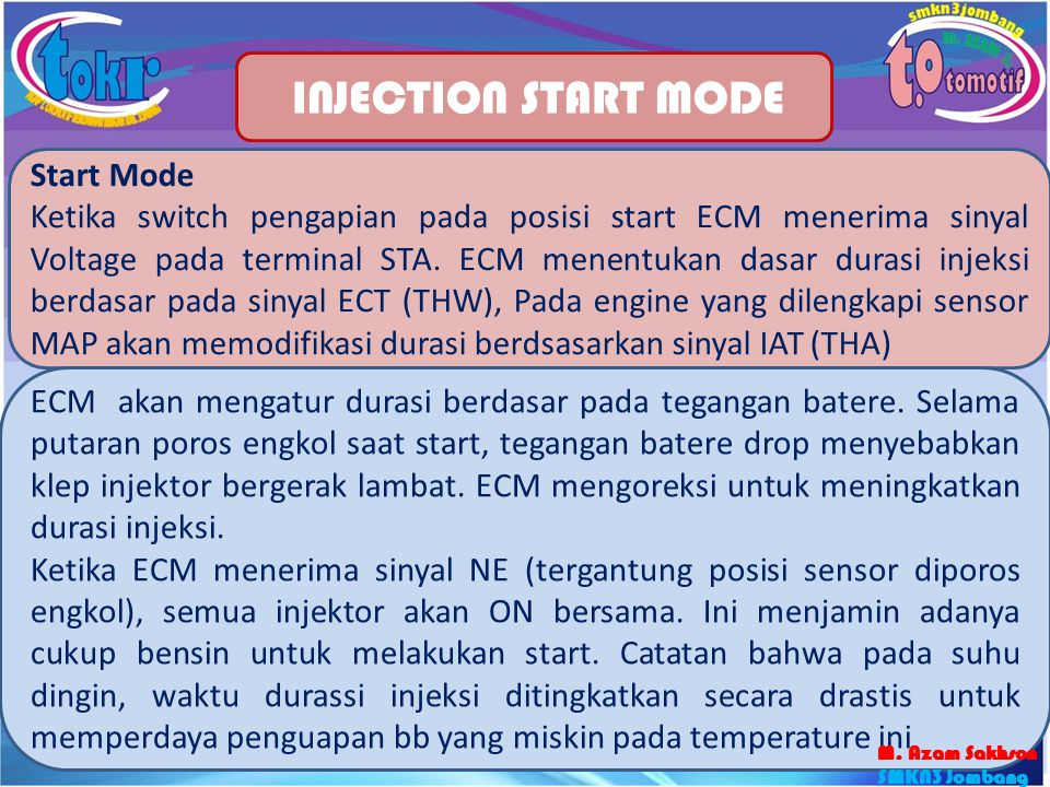 INJECTION START MODE Start Mode