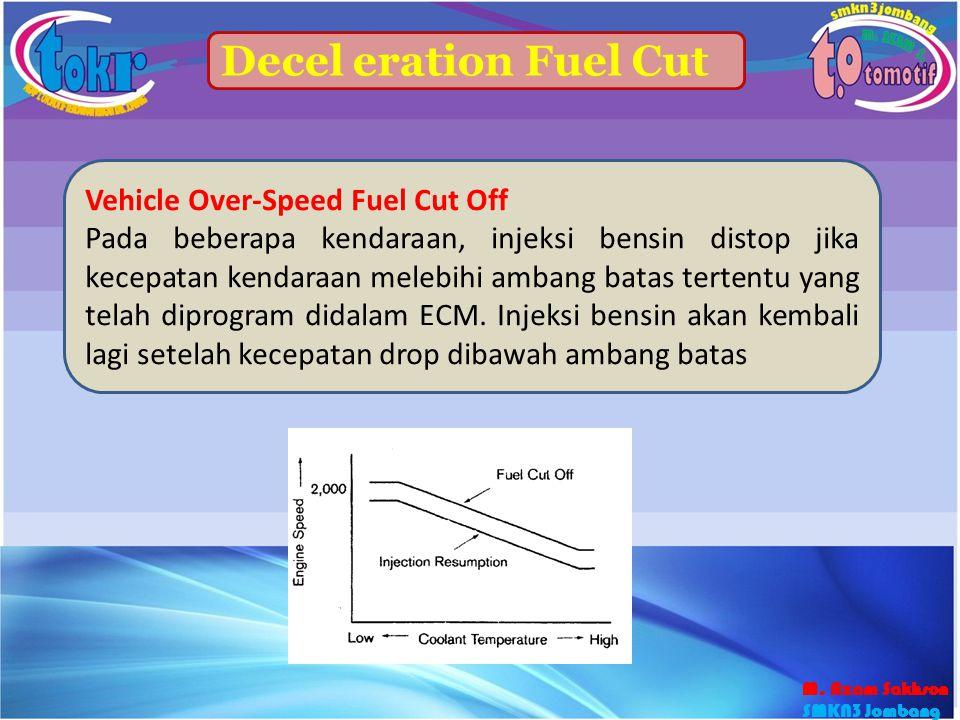Decel eration Fuel Cut Vehicle Over-Speed Fuel Cut Off