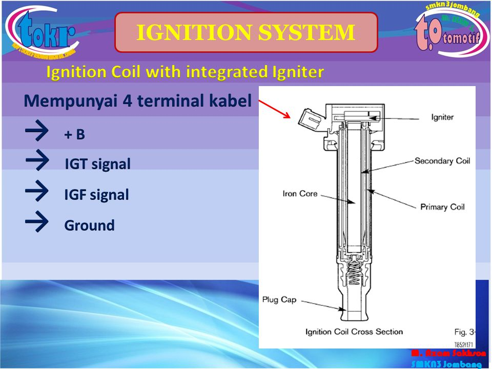 Ignition Coil with integrated Igniter Mempunyai 4 terminal kabel