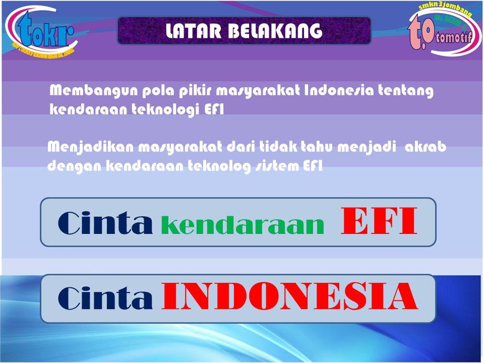 Cinta kendaraan EFI Cinta INDONESIA LATAR BELAKANG