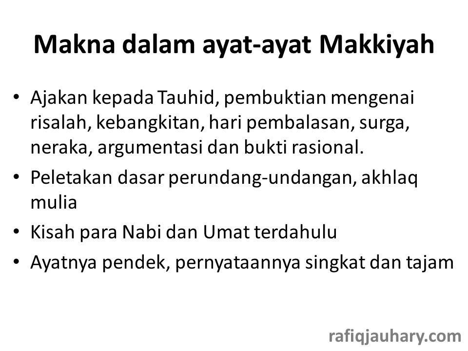 Makna dalam ayat-ayat Makkiyah