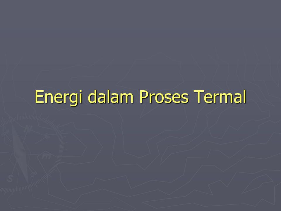 Energi dalam Proses Termal