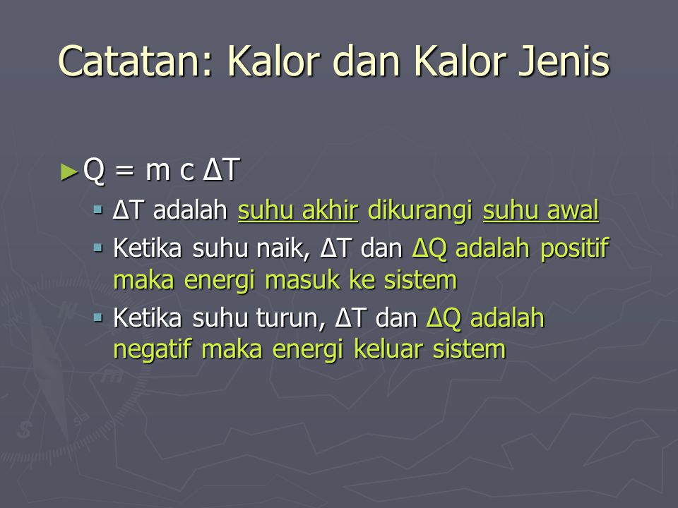 Catatan: Kalor dan Kalor Jenis
