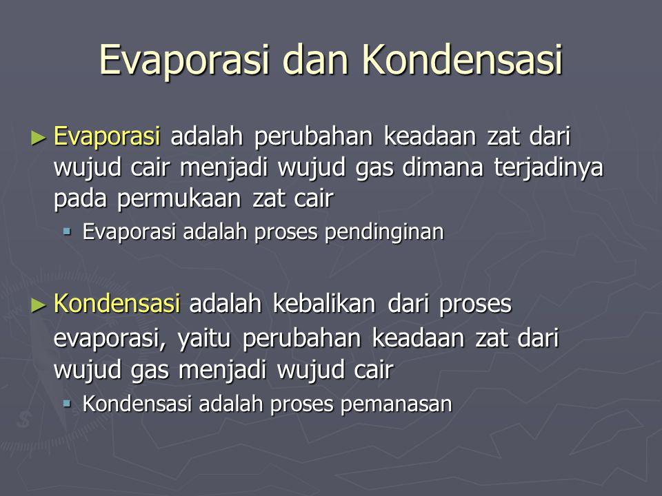 Evaporasi dan Kondensasi