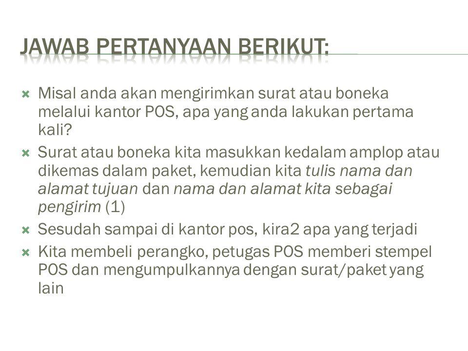 JAWAB PERTANYAAN BERIKUT: