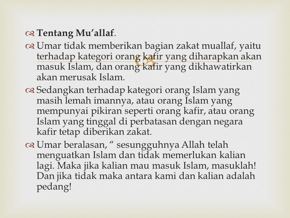 Tentang Mu'allaf.