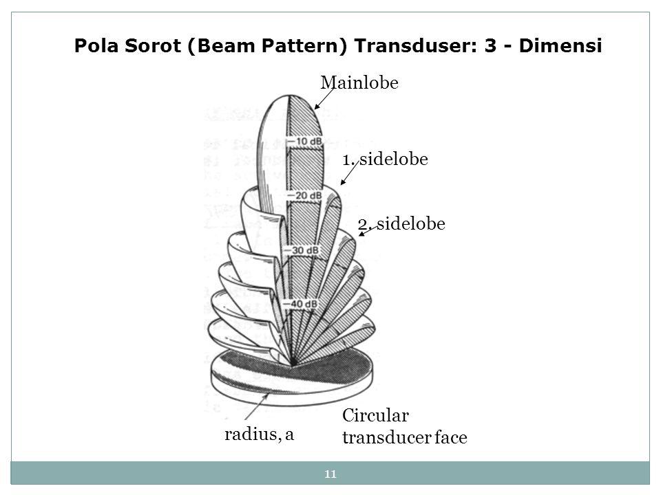 Pola Sorot (Beam Pattern) Transduser: 3 - Dimensi
