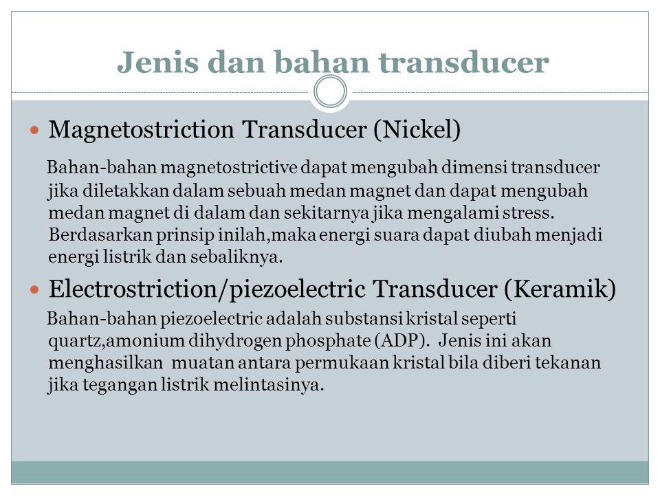 Jenis dan bahan transducer