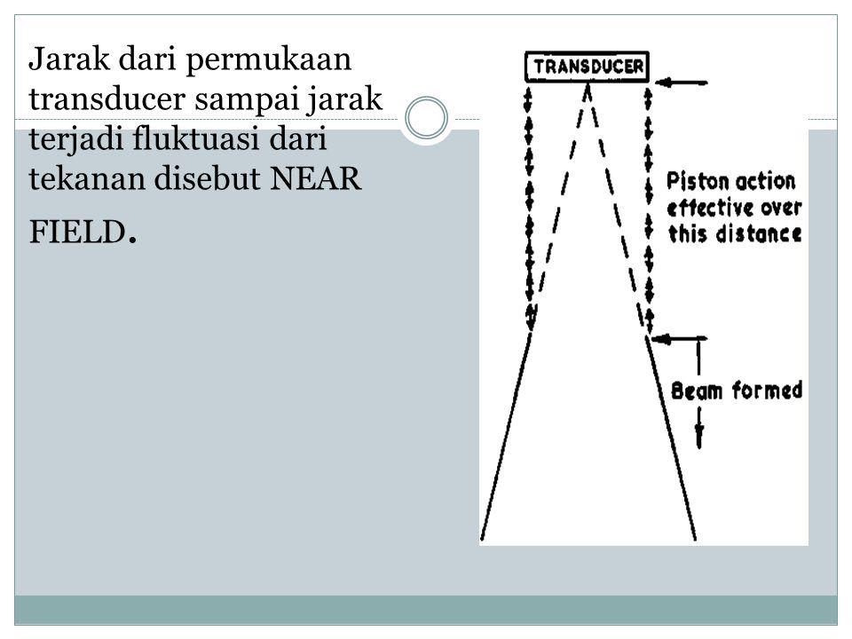 Jarak dari permukaan transducer sampai jarak terjadi fluktuasi dari tekanan disebut NEAR FIELD.