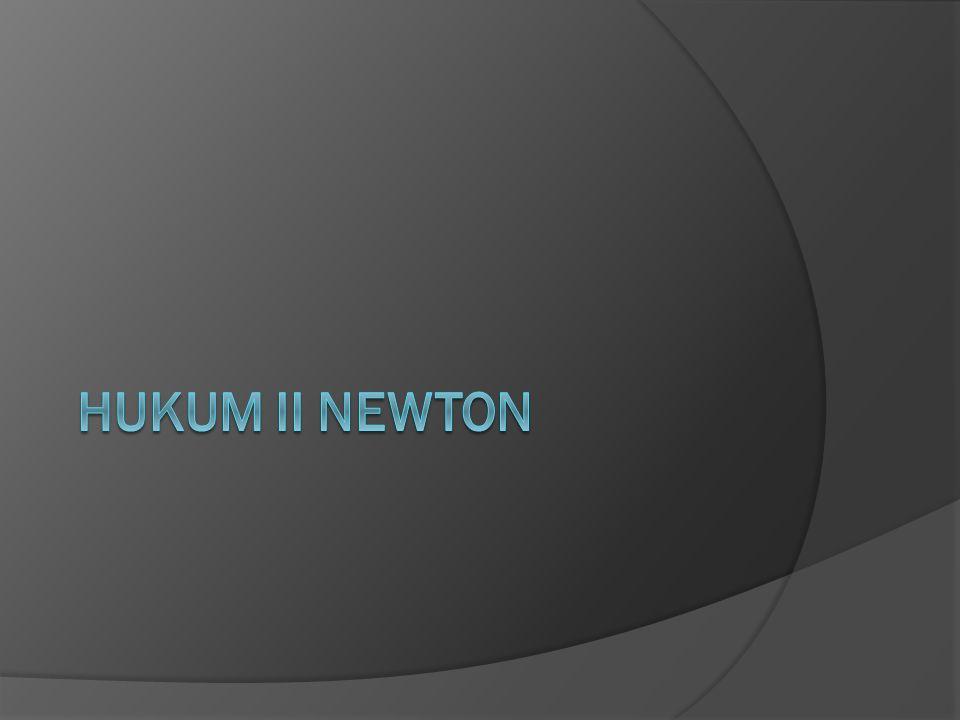 HUKUM II NEWTON
