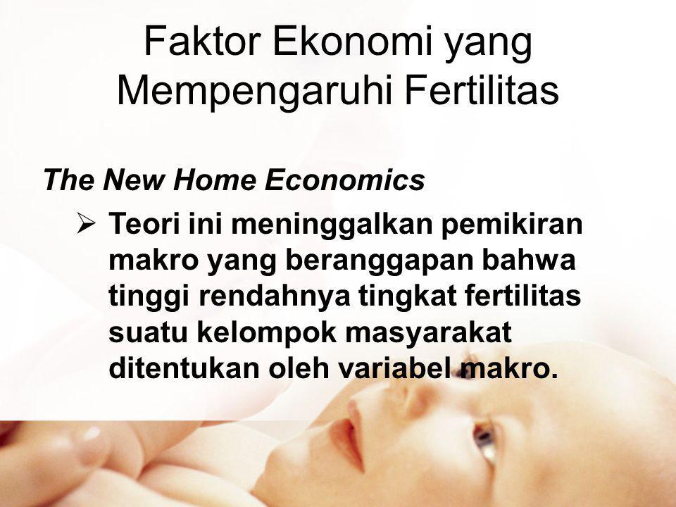 Faktor Ekonomi yang Mempengaruhi Fertilitas