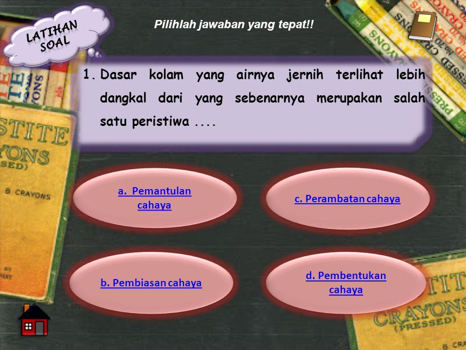 Latihan soal Pilihlah jawaban yang tepat!!